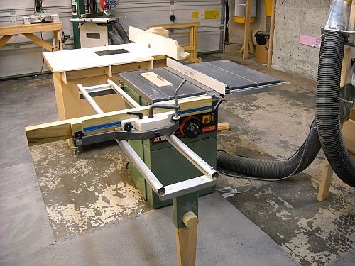 Sliding Tablesaw Homemade : Kity tablesaw with sliding table: